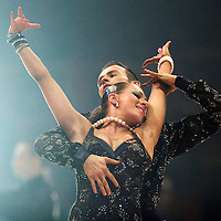 23 January 2010: Regina Murtasina and Simon Voelbel perform during the Masters Bercy Latin and Ballroom (standard) Dancesport Championship 2010, at Palais Omnisports Paris Bercy, in Paris, France. .