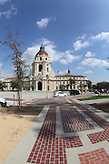 PASADENA, CA - FEBRUARY 29, 2012 - A fisheye photo of Pasadena City Hall on February 29th, 2012.  The City is working towards becoming a Green and Sustainable City.