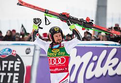 Marcel Hirscher during flower ceremony after Men's GiantSlalom race of FIS Alpine Ski World Cup 57th Vitranc Cup 2018, on March 3, 2018 in Kranjska Gora, Slovenia. Photo by Urban Meglič / Sportida