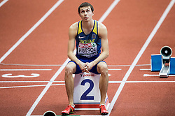 Yevhen Hutsol of Ukraine competes in the Men's 400 metres heats on day one of the 2017 European Athletics Indoor Championships at the Kombank Arena on March 3, 2017 in Belgrade, Serbia. Photo by Vid Ponikvar / Sportida