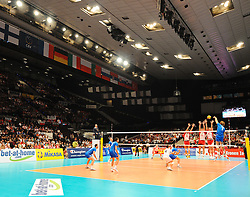 17.09.2011, Stadthalle, Wien, AUT, CEV, Europaeische Volleyball Meisterschaft 2011, Halbfinale, Italien vs Polen, im Bild Volleyball Feature waehrend dem Halbfinale Italien gegen Polen // during the european Volleyball Championship Semi Final Italy vs Poland, at Stadthalle, Vienna, 2011-09-17, EXPA Pictures © 2011, PhotoCredit: EXPA/ M. Gruber