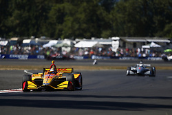 September 2, 2018 - Portland, Oregon, United Stated - RYAN HUNTER-REAY (28) of the United States battles for position during the Portland International Raceway at Portland International Raceway in Portland, Oregon. (Credit Image: © Justin R. Noe Asp Inc/ASP via ZUMA Wire)