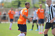 Luton Town Zane Banton during the Pre-Season Friendly match between Peacehaven & Telscombe and Luton Town at the Peacehaven Football Club, Peacehaven, United Kingdom on 18 July 2015. Photo by Phil Duncan.