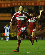 Picture by Paul Gaythorpe/Focus Images Ltd +447771 871632.26/12/2012.Lucas Jutkiewicz of Middlesbrough celebrates scoring the opening goal against Blackburn Rovers during the npower Championship match at the Riverside Stadium, Middlesbrough.