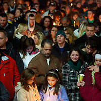 A prayer vigil is held in the honor of killed teacher Vick Soto in Stratford, CT, the day after a mass shooting of 20 children and 7 adults at Sandy Hook Elementary School, in nearby Sandy Hook, CT, on December 14, 2012.