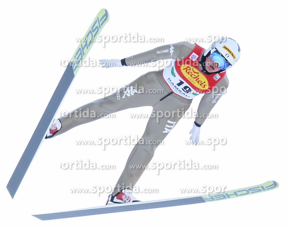 17.12.2016, Nordische Arena, Ramsau, AUT, FIS Weltcup Nordische Kombination, Skisprung, im Bild Samuel Costa (ITA) // Samuel Costa of Italy during Skijumping Competition of FIS Nordic Combined World Cup, at the Nordic Arena in Ramsau, Austria on 2016/12/17. EXPA Pictures © 2016, PhotoCredit: EXPA/ Martin Huber