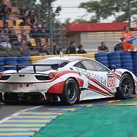 #60, Ferrari 458 Italia, Formula Racing, driven by, Jonny Laursen, Mikel Mac, Christina Nielsen, 24 Heures Du Mans Test Day, 05/06/2016,