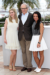 Director Ken Loach with actresses Siobhan Reilly (left) and Jasmin Riggins at the the Cannes Film Festival for his new film The Angel's Share, Tuesday, 22nd May 2012.