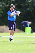 AFC Wimbledon first team coach Simon Bassey in action during the AFC Wimbledon Training Session, England on 14 July 2016. Photo by Stuart Butcher.