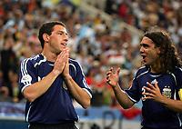 Jubel 1:0 Maxi Rodriguez, Juan Sorin Argentinien<br /> Fussball WM 2006 Argentinien - Serbien Montenegro<br /> Argentina - Serbia Montenegro<br />  Norway only