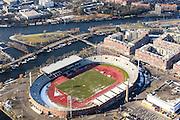 Nederland, Noord-Holland, Amsterdam, 14-02-2017; Olympisch Stadion, Stadionplein<br /> Olympic stadion.<br /> luchtfoto (toeslag op standard tarieven);<br /> aerial photo (additional fee required);<br /> copyright foto/photo Siebe Swart