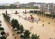 SONGTAO MIAO AUTONOMOUS COUNTY, CHINA - JULY 15: (CHINA OUT)<br /> <br /> Floods hit china<br /> <br /> Rainstorm causes a flood at a square on July 15, 2015 in Songtao Miao Autonomous County, Tongren City, Guizhou Province of China. A rainstorm hit Songtao Miao Autonomous County from Tuesday night to Wednesday morning with a 293.8-millimeter rainfall causing 1 person dead of lightning and affecting about 135,000 people.<br /> ©Exclusivepix Media