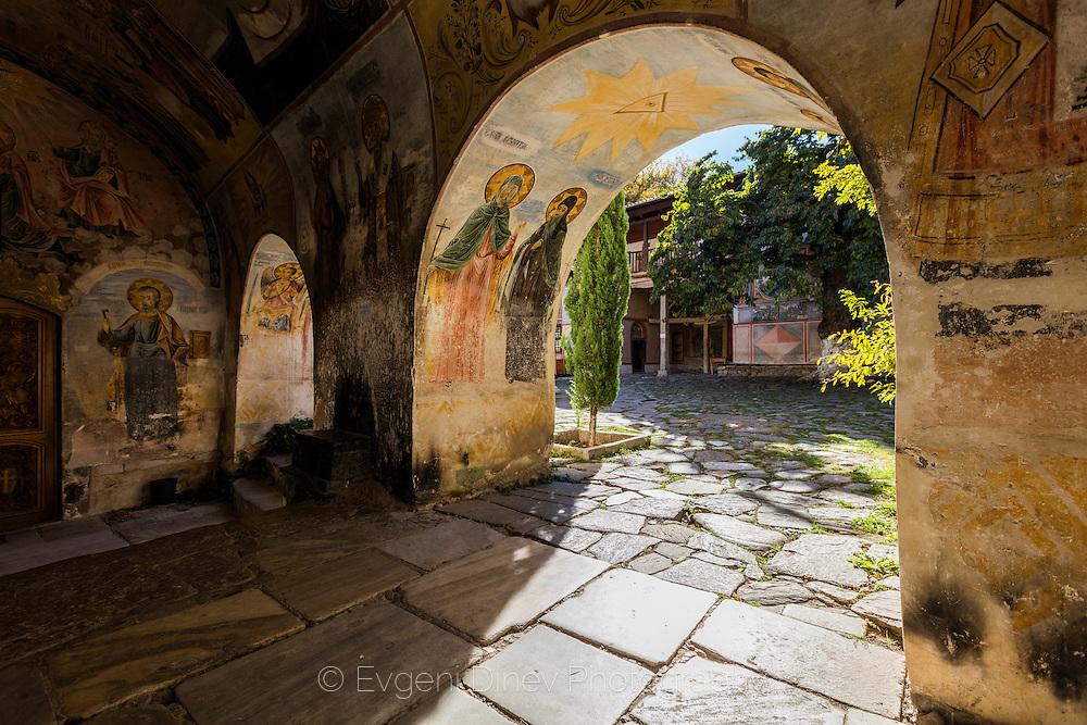 Bachkovski monastery in autumn