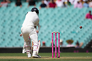 Australian player Josh Hazlewood finds the outside edge of Indian player K.L Rahul's bat at the 4th Cricket Test Match between Australia and India at The Sydney Cricket Ground in Sydney, Australia on 03 January 2019.