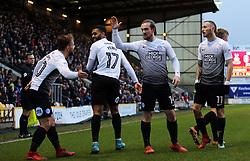 Danny Lloyd of Peterborough United (left) celebrates scoring his goal with team-mates - Mandatory by-line: Joe Dent/JMP - 26/12/2017 - FOOTBALL - Northern Commercials Stadium - Bradford, England - Bradford City v Peterborough United - Sky Bet League One
