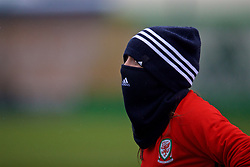 ZENICA, BOSNIA AND HERZEGOVINA - Sunday, November 26, 2017: Wales' Natasha Harding during a training session ahead of the FIFA Women's World Cup 2019 Qualifying Round Group 1 match against Bosnia and Herzegovina at the FF BH Football Training Centre. (Pic by David Rawcliffe/Propaganda)