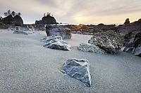 Sunset at Point of the Arches, Olympic National Park Washington