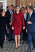 MADRID, SPAIN, 2015, FEBRUARY 10 <br /> <br /> Queen Letizia, working visit to the presentation of the improvements made in the Royal Palace of Madrid, for the removal of architectural barriers, to favour disabled people<br /> ©Exclusivepix Media