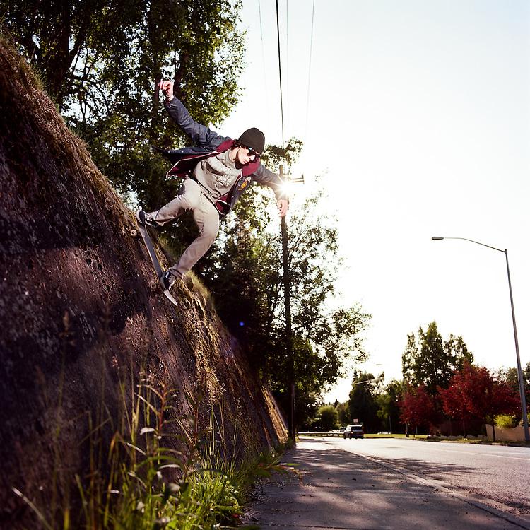 ANCHORAGE, ALASKA - 2012: Evan Sharp.