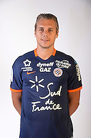 Kevin Berigaud during the photocall of Montpellier for new season of Ligue 1 on September 27th 2016 in Montpellier<br /> Photo : Mhsc / Icon Sport