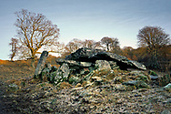 5000 year old prehistoric stone chambered burial cairn at Duntrune in the Kilmartin Valley, Argyll and Bute, Scotland, UK