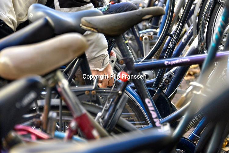 Nederland, Nijmegen, 29-11-2016Fietsen in de binnenstad van Nijmegen  . In deze stad worden de meeste fietsen gestolen .Foto: Flip Franssen