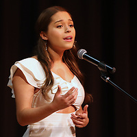 Emmie Perkins of Hattiesburg performed Saturday at the Tupelo Elvis Presley Fan Club's Music Scholarship competition at Elvis Presley's birthplace