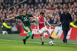 21-01-2018 NED: AFC Ajax - Feyenoord, Amsterdam<br /> Ajax was met 2-0 te sterk voor Feyenoord / Jens Toornstra #28 of Feyenoord, Nico Tagliafico #31 of AFC Ajax