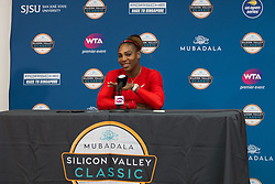 July 31, 2018 - San Jose, CA, USA - San Jose, CALIFORNIA - Tuesday July 31, 2018: Briton Johanna Konta beat Serena Williams 6-1 6-0 at Silicon Valley Classic in San Jose. (Credit Image: © Celso Bayo/ISIPhotos via ZUMA Wire)