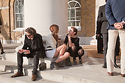 ADAM WAYMOUTH; DASHA ZHUKOVA; VICTORIA FERNANDEZ, Phillips de Pury and Company.- BRIC- Exhibition and auction celebrating Brazil, Russia, India and China at the Saatchi Gallery. London.  17 April 2010.