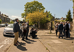 Environment Secretary, Roseanna Cunningham MSP, was in Portobello today to meet the Action Porty community right-to-buy group to mark the Scottish Government giving consent to proceed with the first community right to buy in an urban area. Pictured:<br /> <br /> <br /> © Jon Davey/ EEm