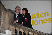 GARY TRAVIS; JANET STREET-PORTER, Allen Jones private view. Royal Academy,  London. 11 November  2014.