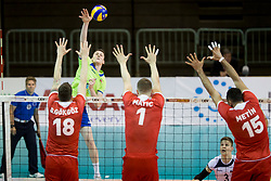 of Slovenia during volleyball match between national teams of Slovenia and Turkey of 2018 CEV volleyball Godlen European League, on May 27, 2018 in Sports hall Tabor, Maribor, Slovenia. Photo by Urban Urbanc / Sportida