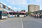 Nederland, Nijmegen, 1-10-2014Het busstation van Nijmegen, waar vooral bussen van Breng, de vervoerder van het KAN, af en aan rijden. Bij het ns station.FOTO: FLIP FRANSSEN/ HOLLANDSE HOOGTE