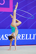 Griskenas Evita during final at hoop in World Cup Pesaro, Adriatic Arena on April 15, 2018. Evita is a promising young American athlete born in Chicago in 2000.Today is Senior Member of United States National Team.