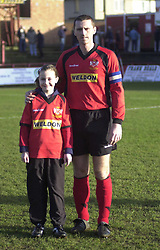 MASCOT WITH LEE HOWART SOUTHPORT GAME 25/1/03 Southport v  Kettering Town  25th January 2003