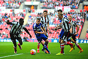 FC Halifax Town midfielder Jake Hibbs during the FA Trophy match between Grimsby Town FC and Halifax Town at Wembley Stadium, London, England on 22 May 2016. Photo by Mike Sheridan.