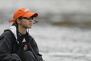 Boston, Massachusetts,  Lightweight women's eights, Princeton University, cox, as the crew return to the boating area after competing in the  Forty Second, [42nd] Head of the Charles, 22/10/2006.  Photo  Peter Spurrier/Intersport Images...[Mandatory Credit, Peter Spurier/ Intersport Images] Rowing Course; Charles River. Boston. USA