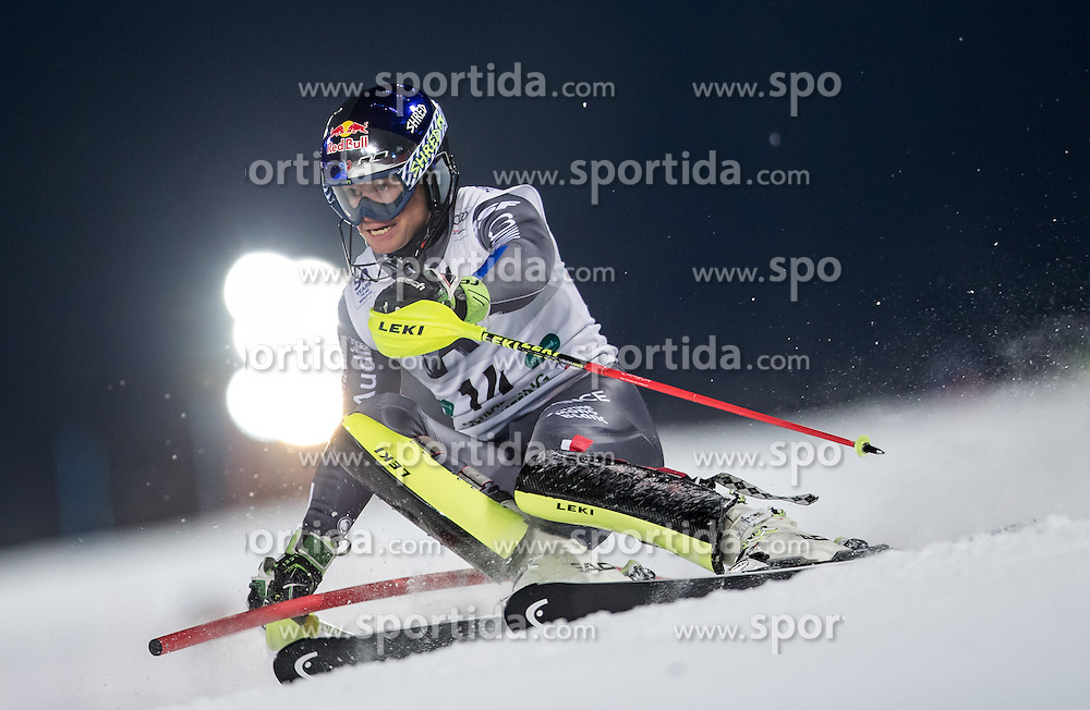 24.01.2017, Planai, Schladming, AUT, FIS Weltcup Ski Alpin, Schladming, Slalom, Herren, 1. Lauf, im Bild Alexis Pinturault (FRA) // Alexis Pinturault of France in action during his 1st run of men's Slalom of FIS ski alpine world cup at the Planai in Schladming, Austria on 2017/01/24. EXPA Pictures © 2017, PhotoCredit: EXPA/ Johann Groder