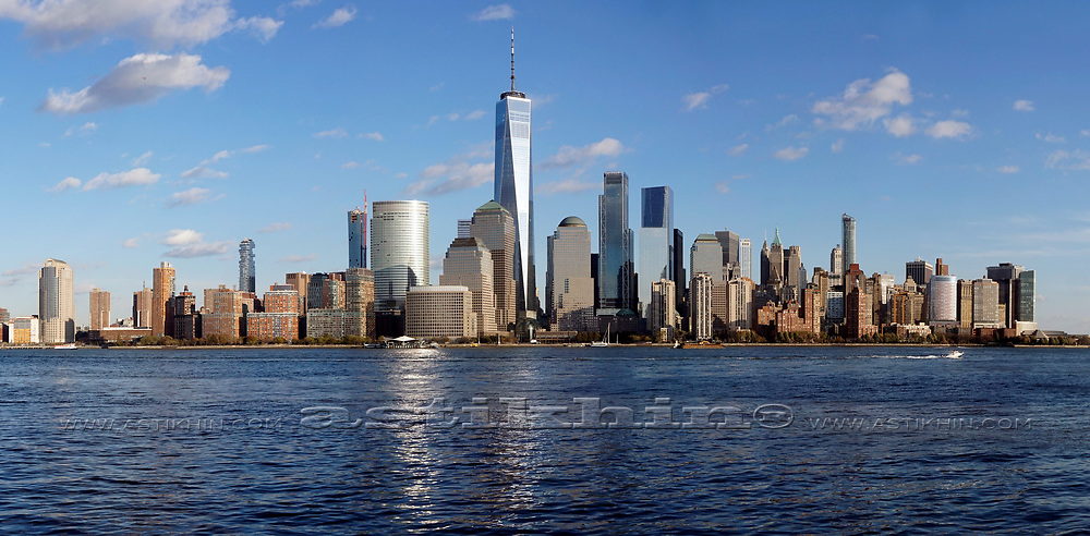 Lower Manhattan from New Jersey.