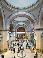 The mail hall of the Metropolitan Museum of Art.