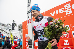 March 9, 2019 - Oslo, NORWAY - 190309 Robert Johansson of Norway celebrates after the men team competition during the FIS Ski-Jumping World Cup on March 9, 2019 in Oslo..Photo: Fredrik Varfjell / BILDBYRÃ…N / kod FV / 150213. (Credit Image: © Fredrik Varfjell/Bildbyran via ZUMA Press)