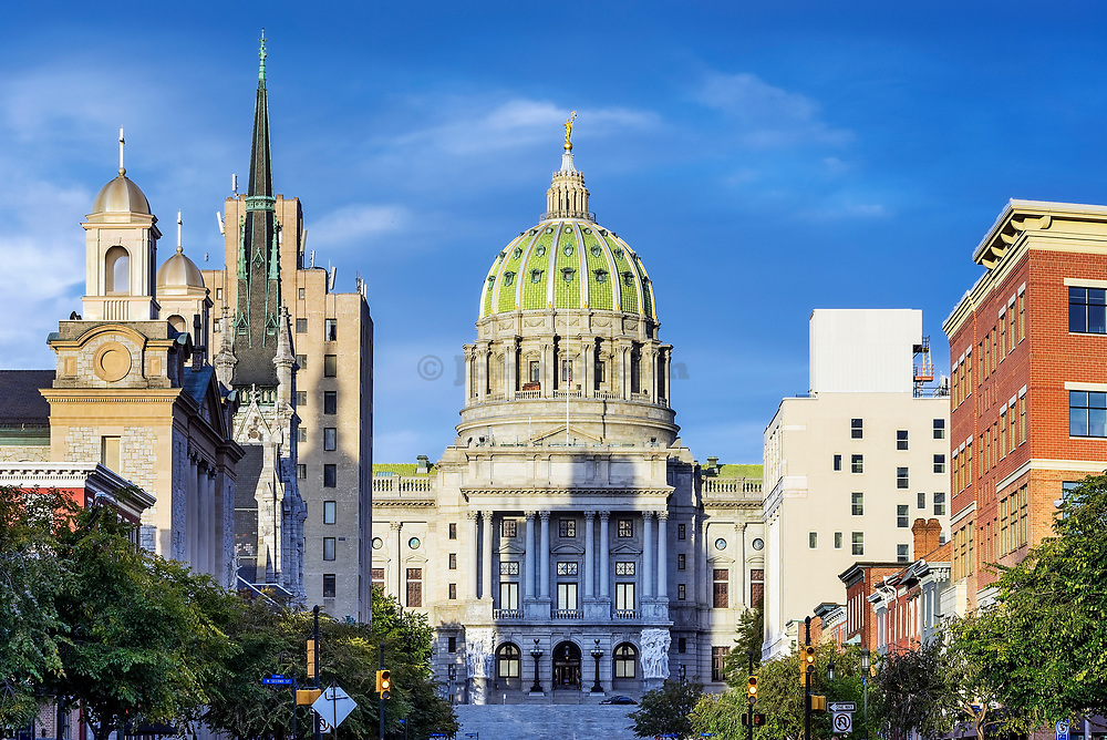 Pennsylvania State capitol building, Harrisburg, Pennsylvania, USA