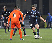 Dundee's Greg Stewart runs at Kilmarnock's Sammy Clingan -  Dundee v Kilmarnock, SPFL Premiership at Dens Park <br /> <br /> <br />  - &copy; David Young - www.davidyoungphoto.co.uk - email: davidyoungphoto@gmail.com