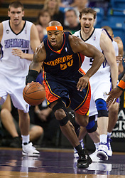 November 8, 2009; Sacramento, CA, USA;  Golden State Warriors forward Corey Maggette (50) steals the ball during the first quarter against the Sacramento Kings at the ARCO Arena. The Kings defeated the Warriors 120-107.