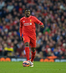 LIVERPOOL, ENGLAND - Sunday, March 8, 2015: Liverpool's Kolo Toure in action against Blackburn Rovers during the FA Cup 6th Round Quarter-Final match at Anfield. (Pic by David Rawcliffe/Propaganda)