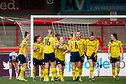 Danielle Van de Donk (Arsenal) celebrates her goal during the FA Women's Super League match between Brighton and Hove Albion Women and Arsenal Women FC at The People's Pension Stadium, Crawley, England on 12 January 2020.