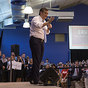 TOWSON, MD- APR18: Presidential candidateTed Cruz at a rally in Townson, Maryland, April 18, 2016, at the American Legion Post 22. (Photo by Evelyn Hockstein/For The Washington Post)