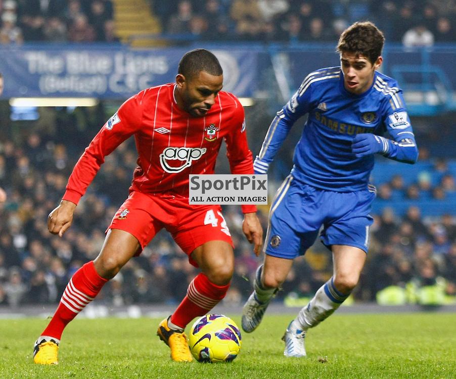 Juan Puncheon beating Oscar. Chelsea v Southampton (c) MATT BRISTOW | StockPix.eu