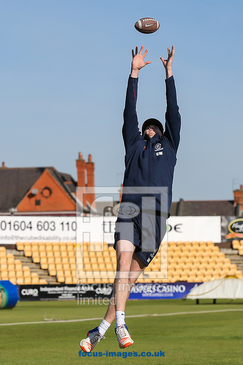 Gareth Wade of Northamptonshire CCC during day two of the Friendly match at the County Ground, Northampton<br /> Picture by Andy Kearns/Focus Images Ltd 0781 864 4264<br /> 03/04/2017